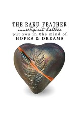 J Davis Studios DANCING FEATHER (HEART, innerSpirit Rattle, JDAV)