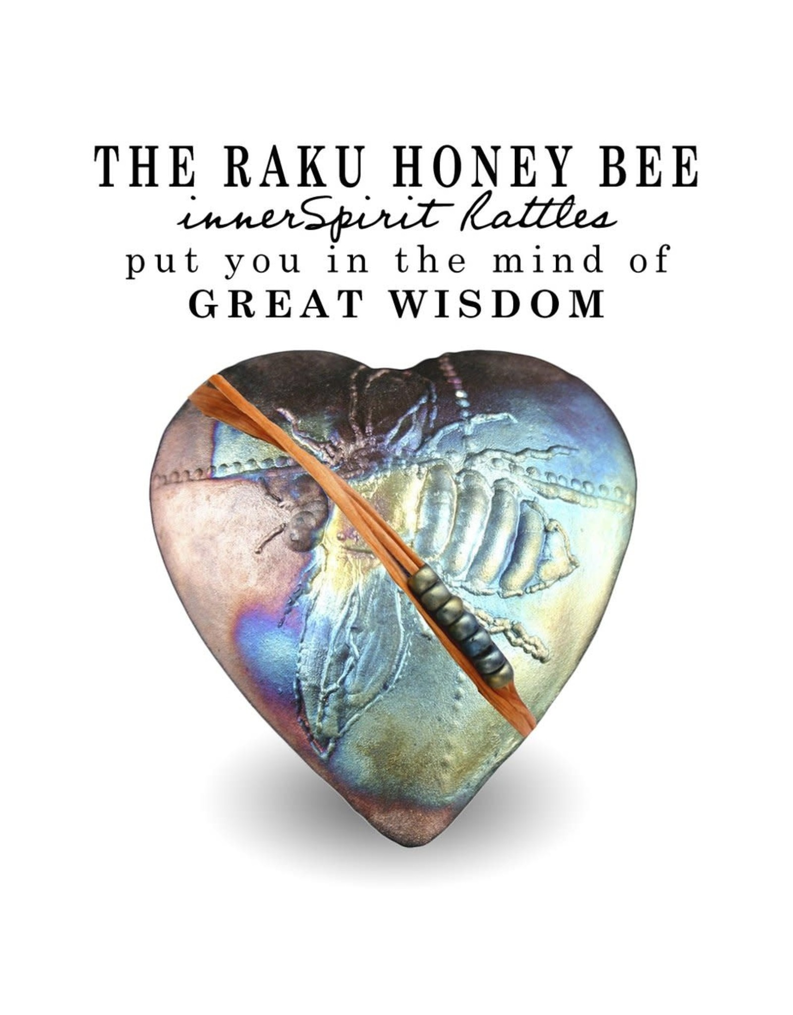 J Davis Studios BUMBLE BEE (HEART, innerSpirit Rattle)
