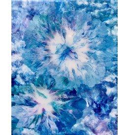 Sandra Stroot Bursts of Blue (Fluid Acrylic, 16x20)