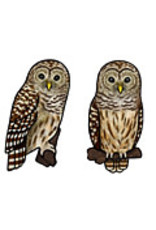 Jabebo Earrings OWL (BARRED)