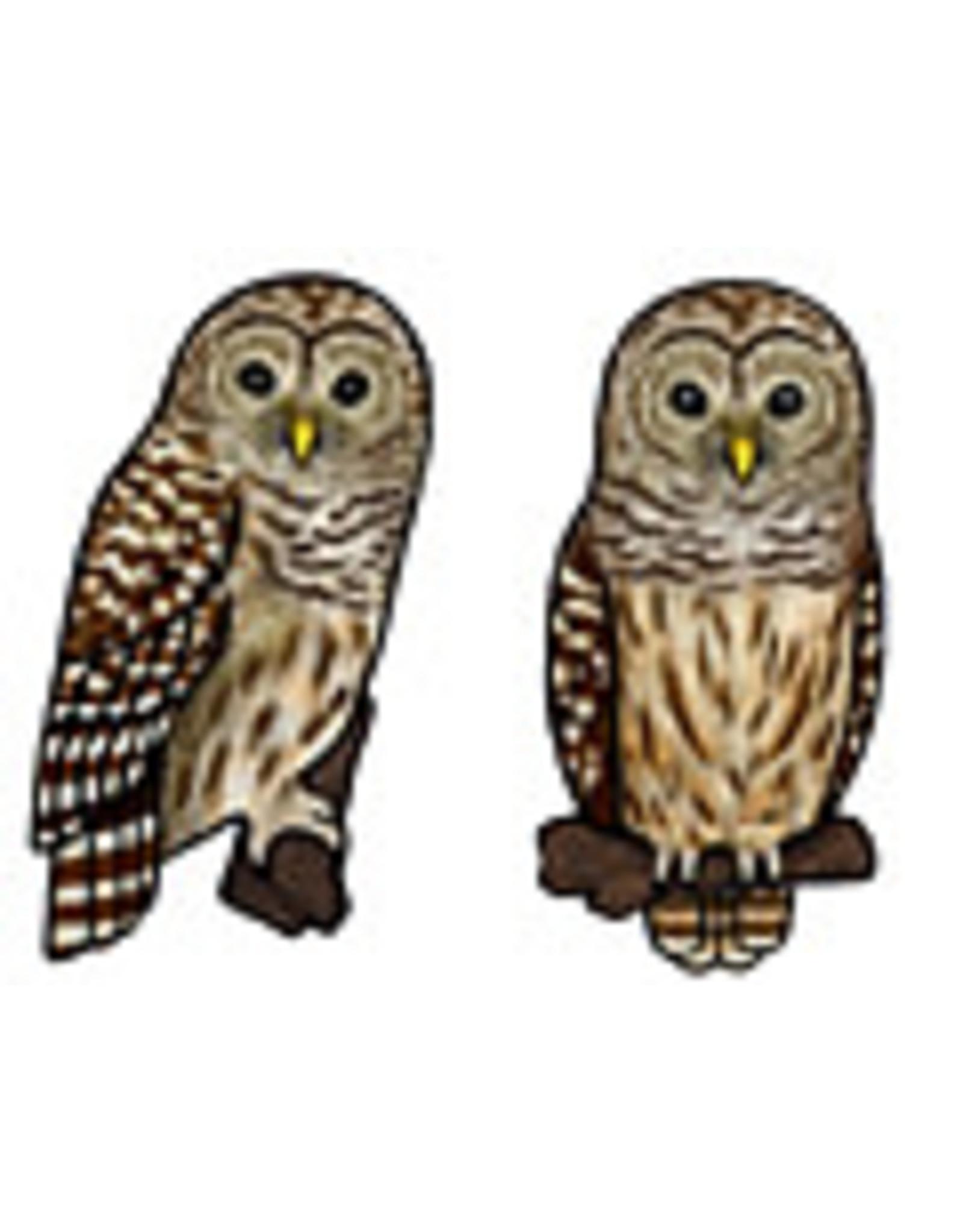 Jabebo Earrings OWL (BARRED)