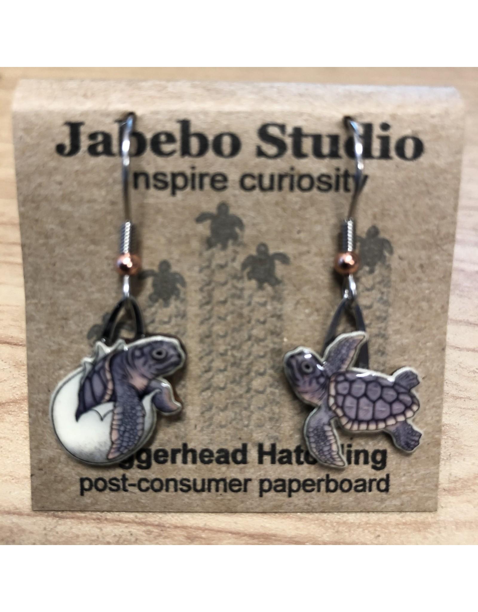 Jabebo Earrings SEA TURTLE (LOGGERHEAD HATCHLING)