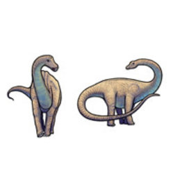 Jabebo Earrings APATOSAURUS (BRONTOSAURUS)