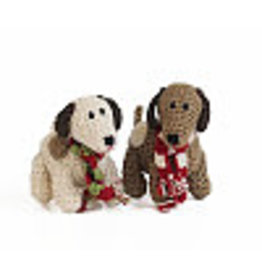 Melange Collection DOG (SPOTTED, CROCHET) ORNAMENT