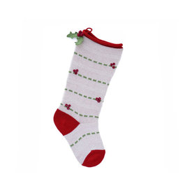 Melange Collection STOCKING (POM POM, ASST'D) ORNAMENT