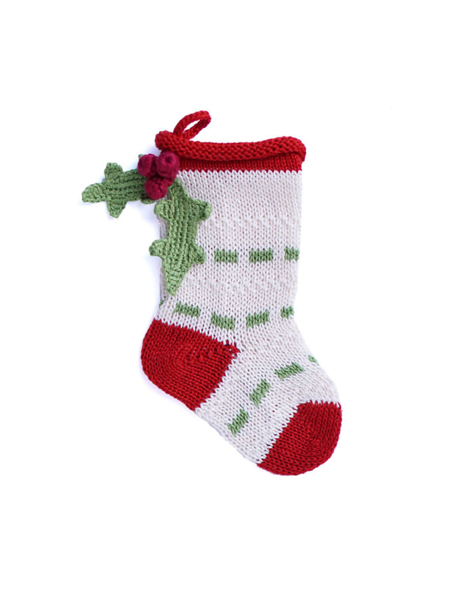 Melange Collection STOCKING (POM POM, ASST'D) ORNAMENT, MELA