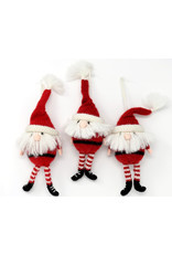 Melange Collection SANTA (w/LEGS) ORNAMENT