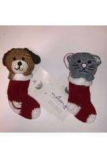 Melange Collection STOCKING (PUPPY/KITTY) ORNAMENT