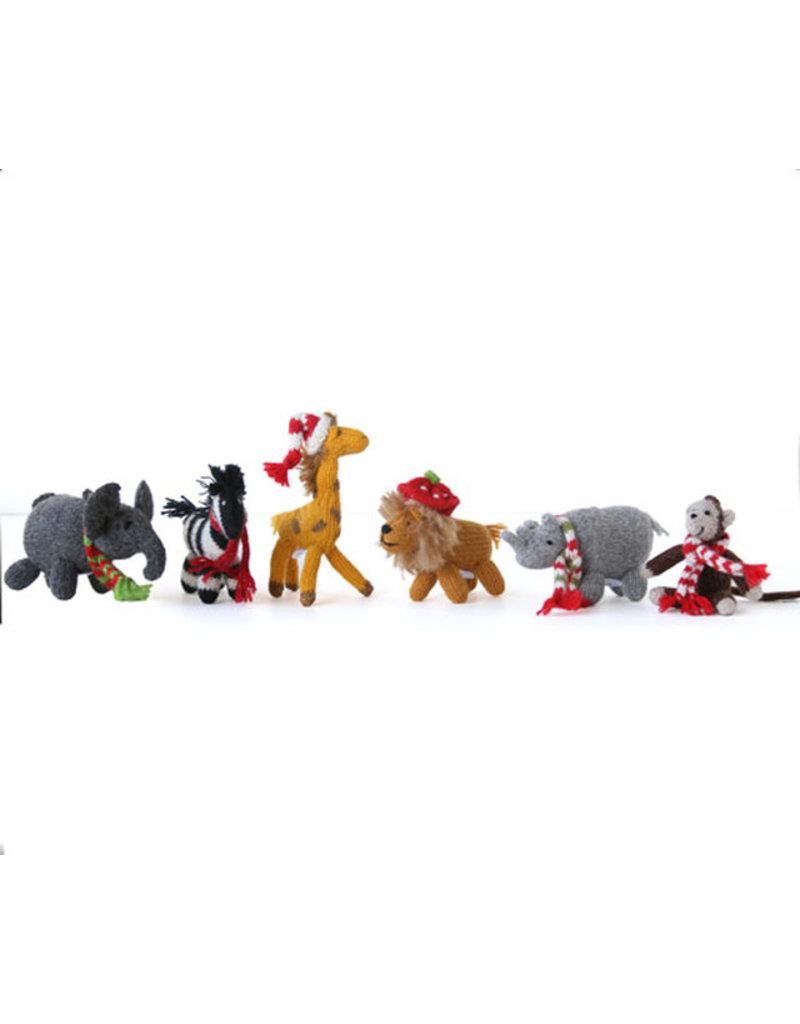 Melange Collection AFRICAN ANIMALS (Lion, Zebra, Rhino, Giraffe, Elephant, Monkey) ORNAMENT