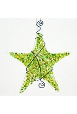 Glassworks Northwest STAR ORNAMENT (SPRINKLE, KTK)