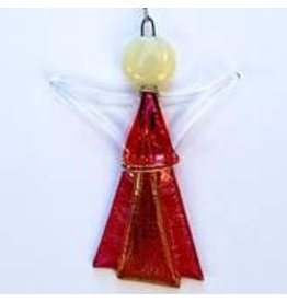 Glassworks Northwest ANGEL (GLASS & WIRE) ORNAMENT