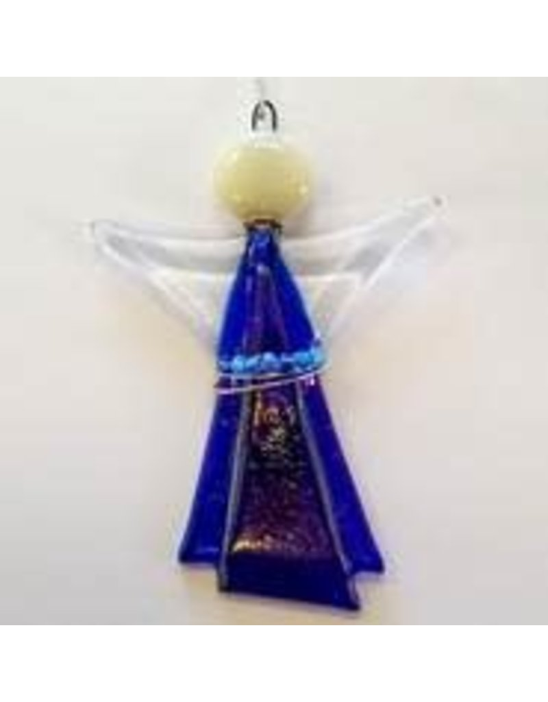 Glassworks Northwest ANGEL (GLASS & WIRE) ORNAMENT