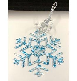 "Karen Hovis Snowflakes (Fused Glass, Sm, 4""D.)"