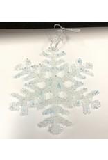 "Karen Hovis Snowflakes (Fused Glass, Lg, 6""D.)"