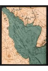 WoodCharts Delaware Bay (Bathymetric 3-D Wood Carved Nautical Chart)