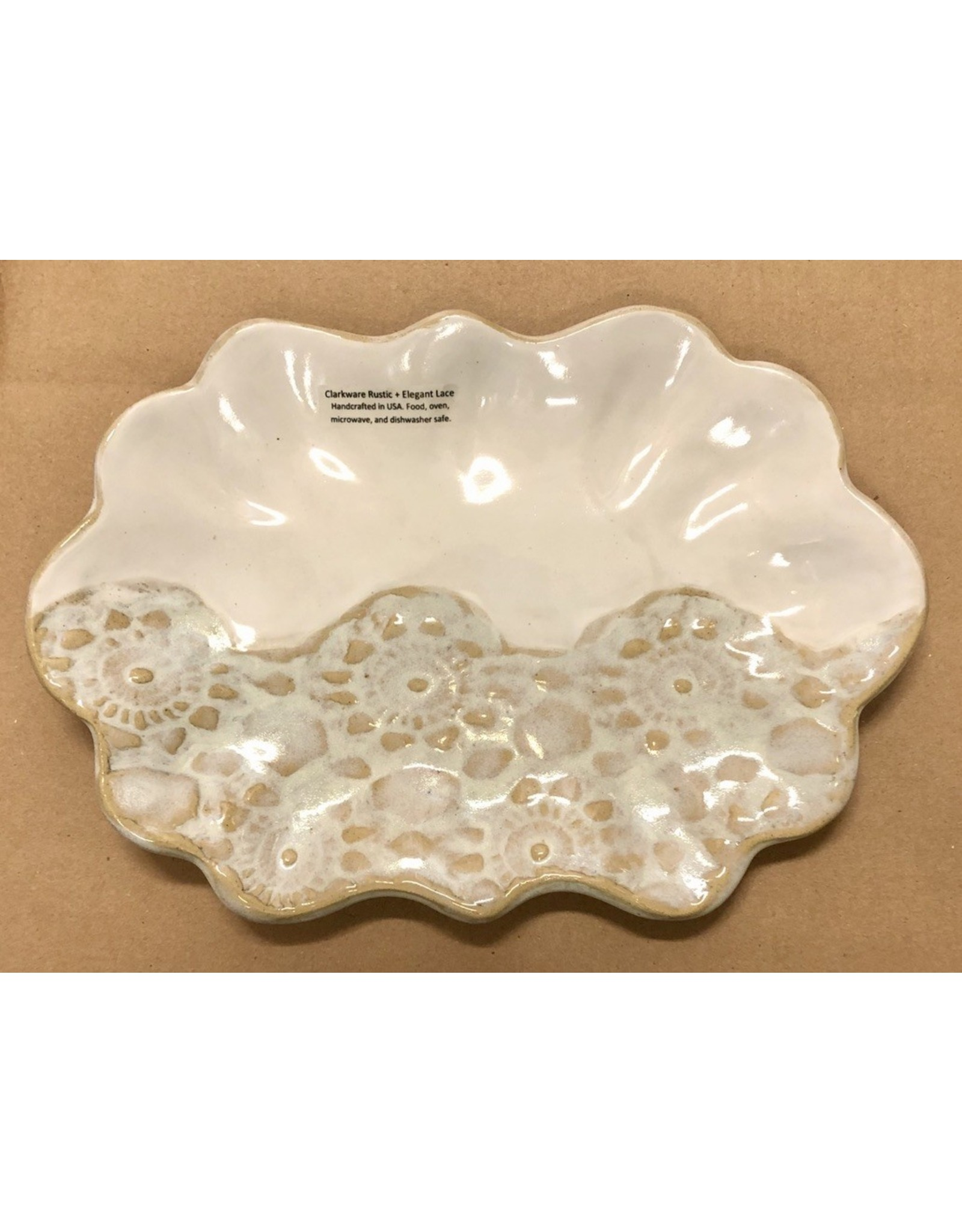 Clarkware Pottery SCALLOP TRAY