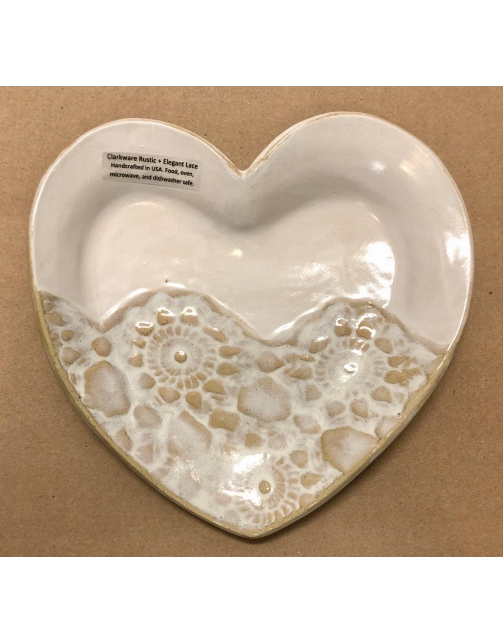 Clarkware Pottery HEART TRAY (Sm.)