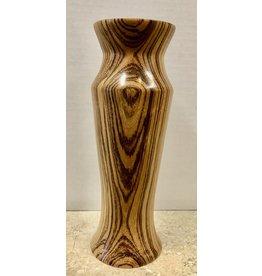 """David L. Jones Vase (Zebrawood, 3""""D. x 9.25""""H)"""