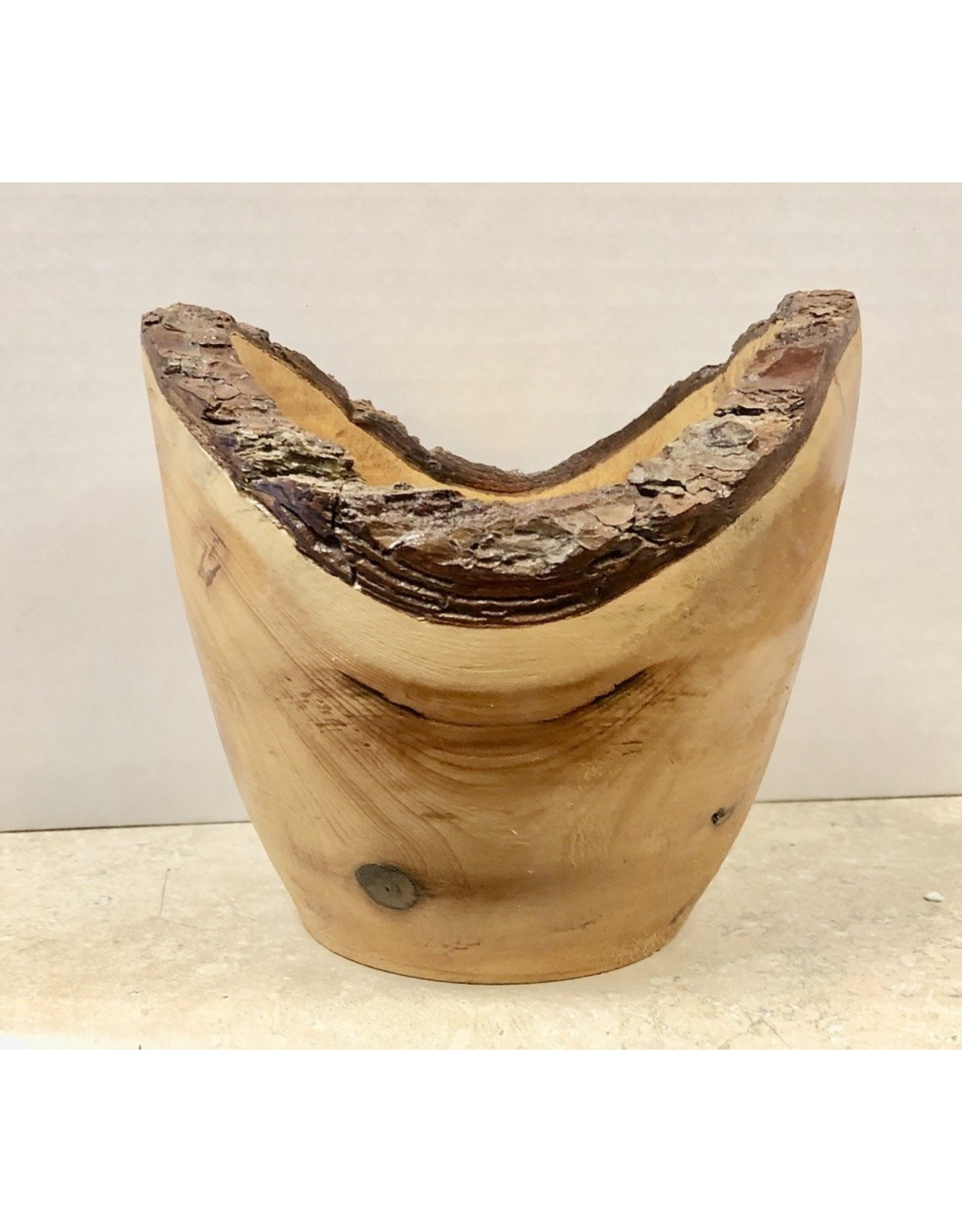 "David L. Jones Bowl (Natural Edge Pine, 5.5""D. x 5""H)"