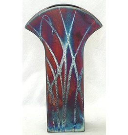 HeARTS 4 Hospice FLAT NOUVEAU VASE (William Turner, Raku Art,  H4H 20010)