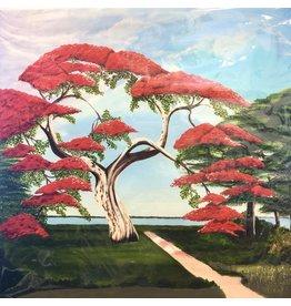 HeARTS 4 Hospice FLAMBOYANT TREE (Giclee, Cliff Potenza, H4H 20024)