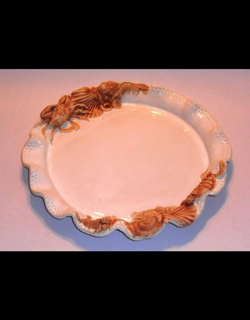 HeARTS 4 Hospice PLATTER (Ceramic, Beaded, XL, Charlestowne Porcelaine, H4H 20025)