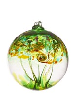 """Kitras Art Glass EARTH (Elements Collection, 6"""" D.)"""