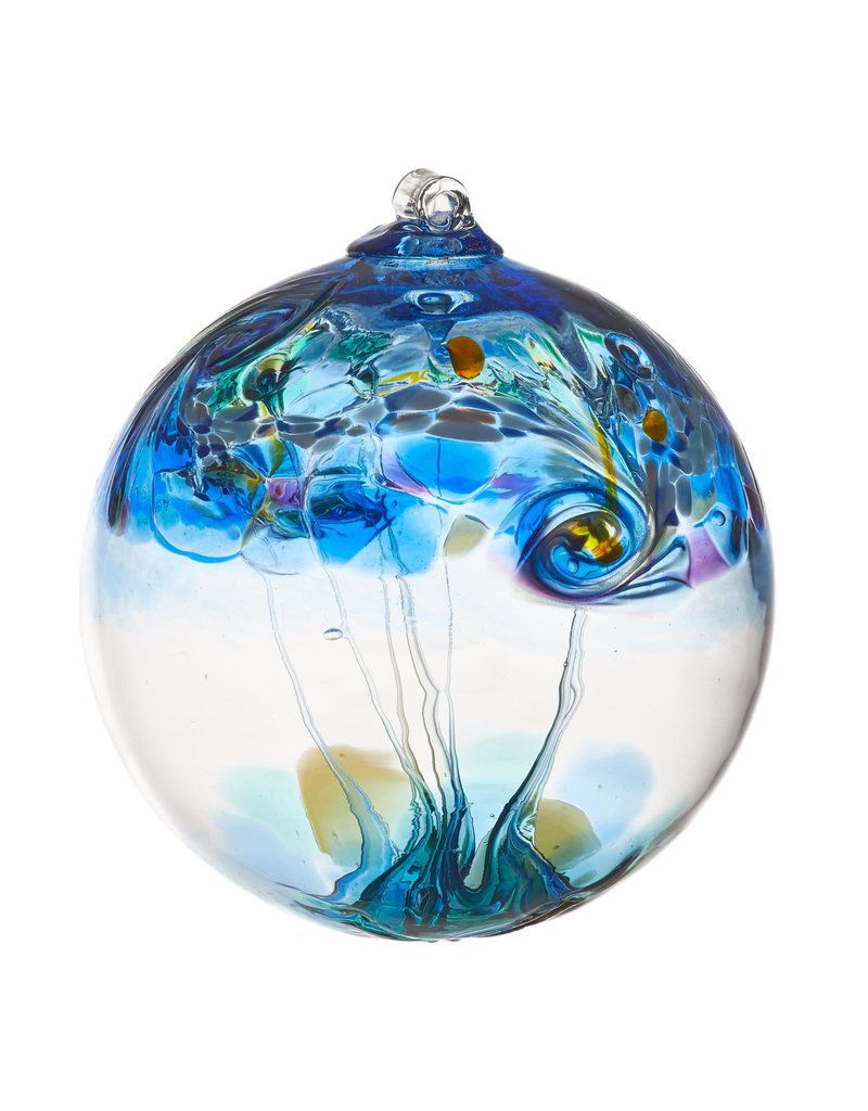 """Kitras Art Glass WATER (Elements Collection, 6"""" D.)"""