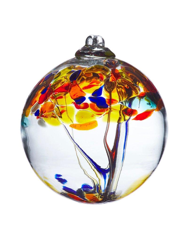 "Kitras Art Glass POSITIVITY (Trees of Enchantment, 6"" D.)"