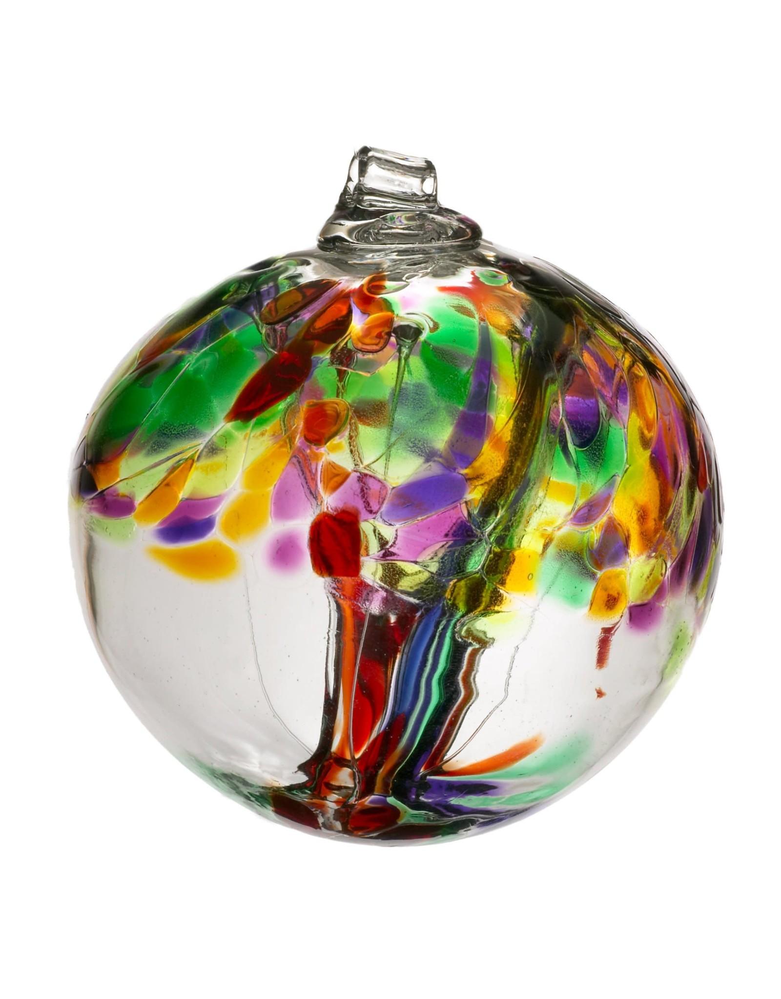 "Kitras Art Glass LIFE (Trees of Enchantment, 6"" D., KITRAS)"