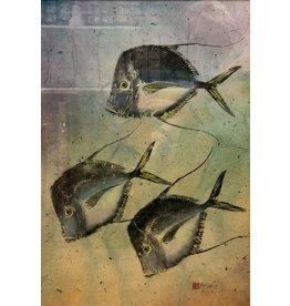 Ken Dara LOOKDOWNS (Gyotaku Original, Framed, 28x35, Signed)