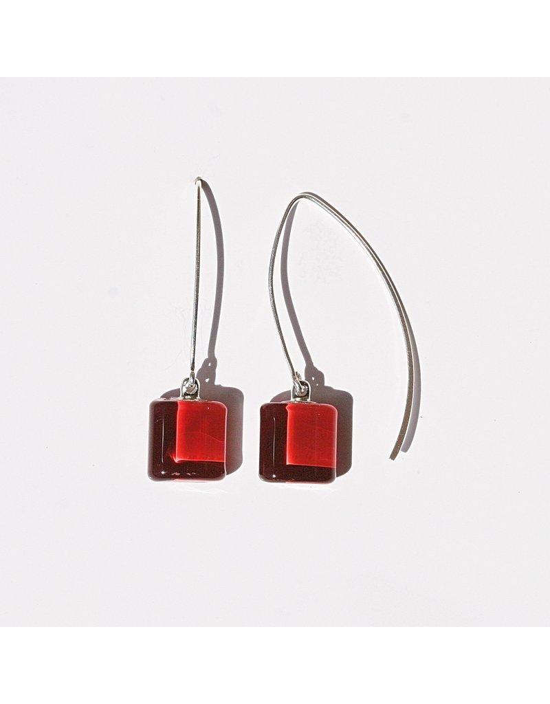 Perfecto Glass EARRING (Mini Square Dangle)