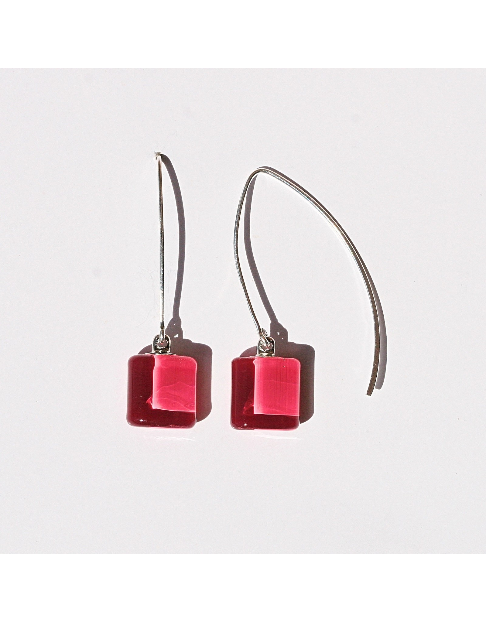 Perfecto Glass EARRING (Mini Square Dangle)