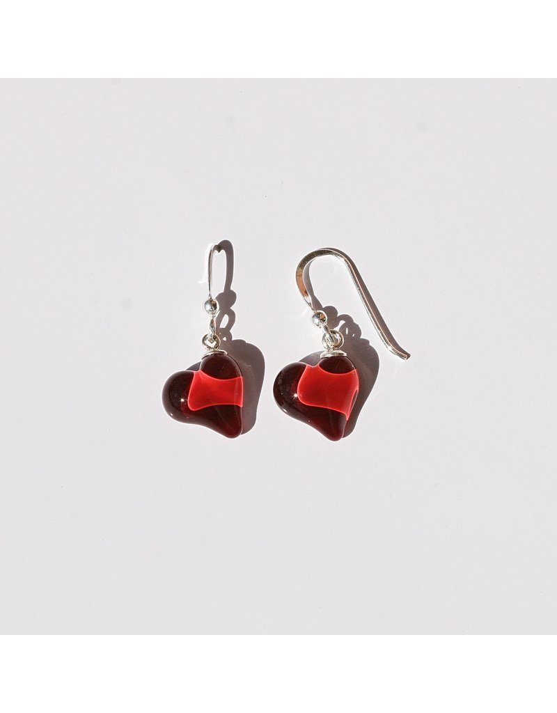 Perfecto Glass EARRING (Petite Heart)