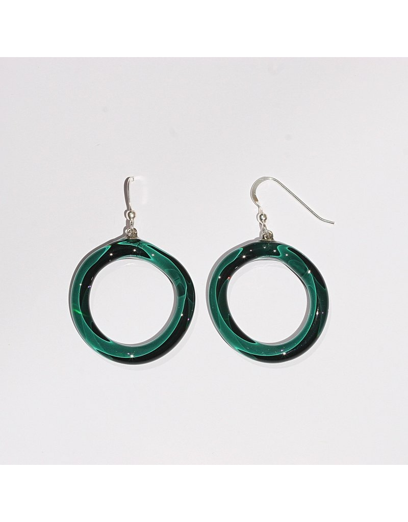 Perfecto Glass EARRING (Hollow Circle)