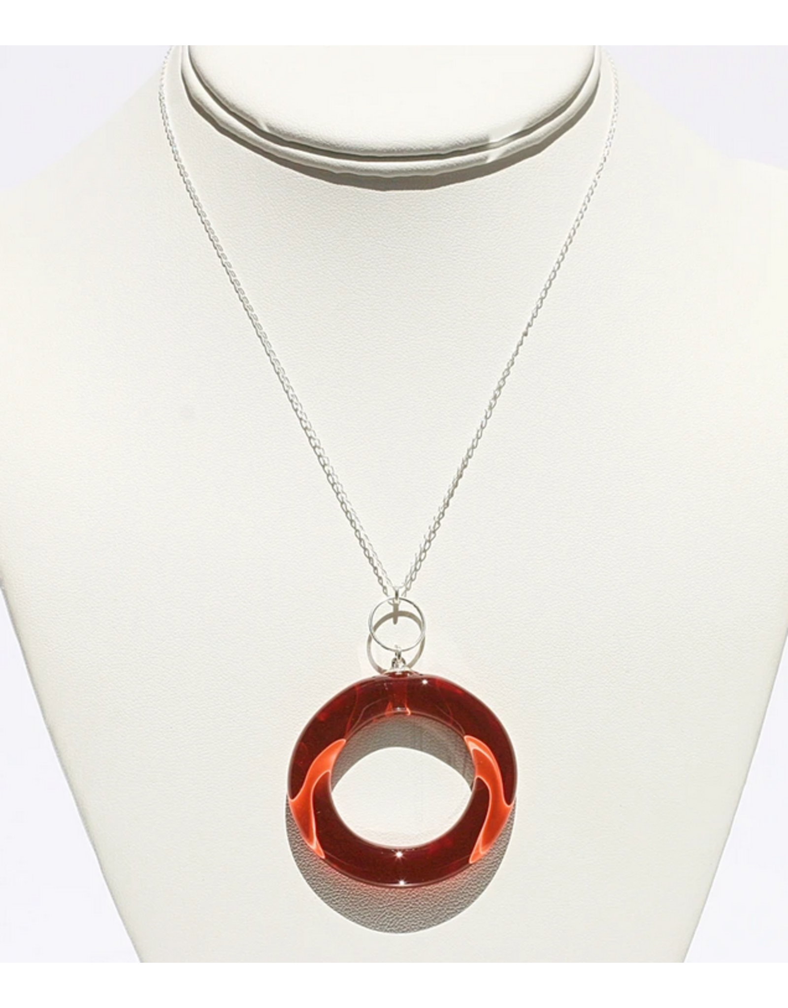 Perfecto Glass PENDANT NECKLACE (Large Hollow Circle)