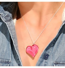 Perfecto Glass PENDANT NECKLACE (Heart)