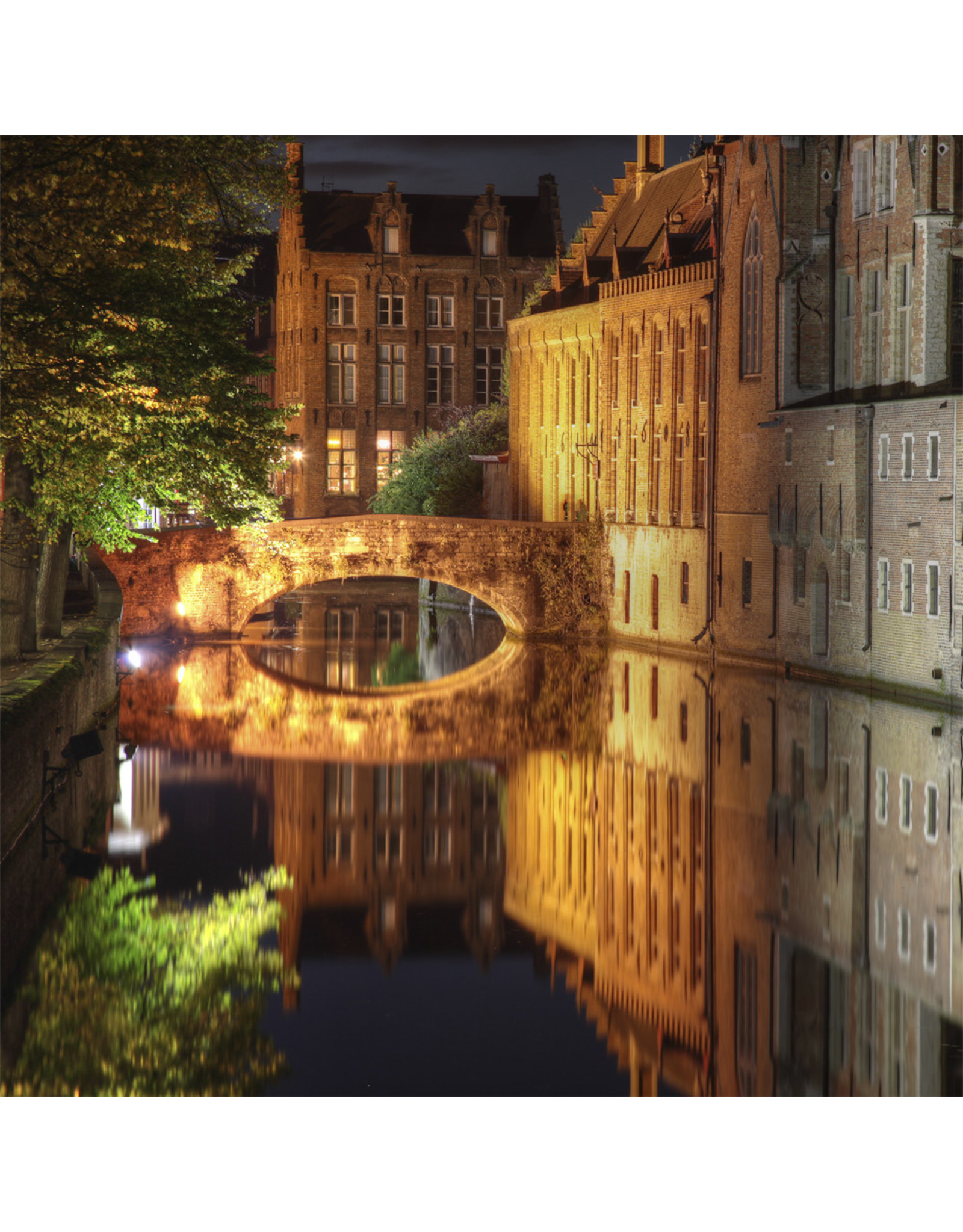 Zen Art & Design Canal in Bruges (Md, 204 Pieces, Artisanal Wooden Jigsaw Puzzle)