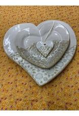 Clarkware Pottery HEART TRAY (Lg.)