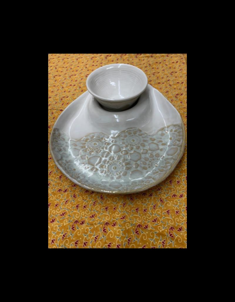 Clarkware Pottery HUMMUS & PITA SERVER