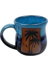 Always Azul PALM TREE w/ BIRDS MUG (Lg, 14oz)