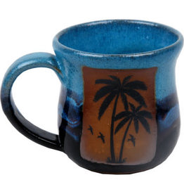 Always Azul PALM TREE w/ BIRDS MUG (Lg, 14oz)