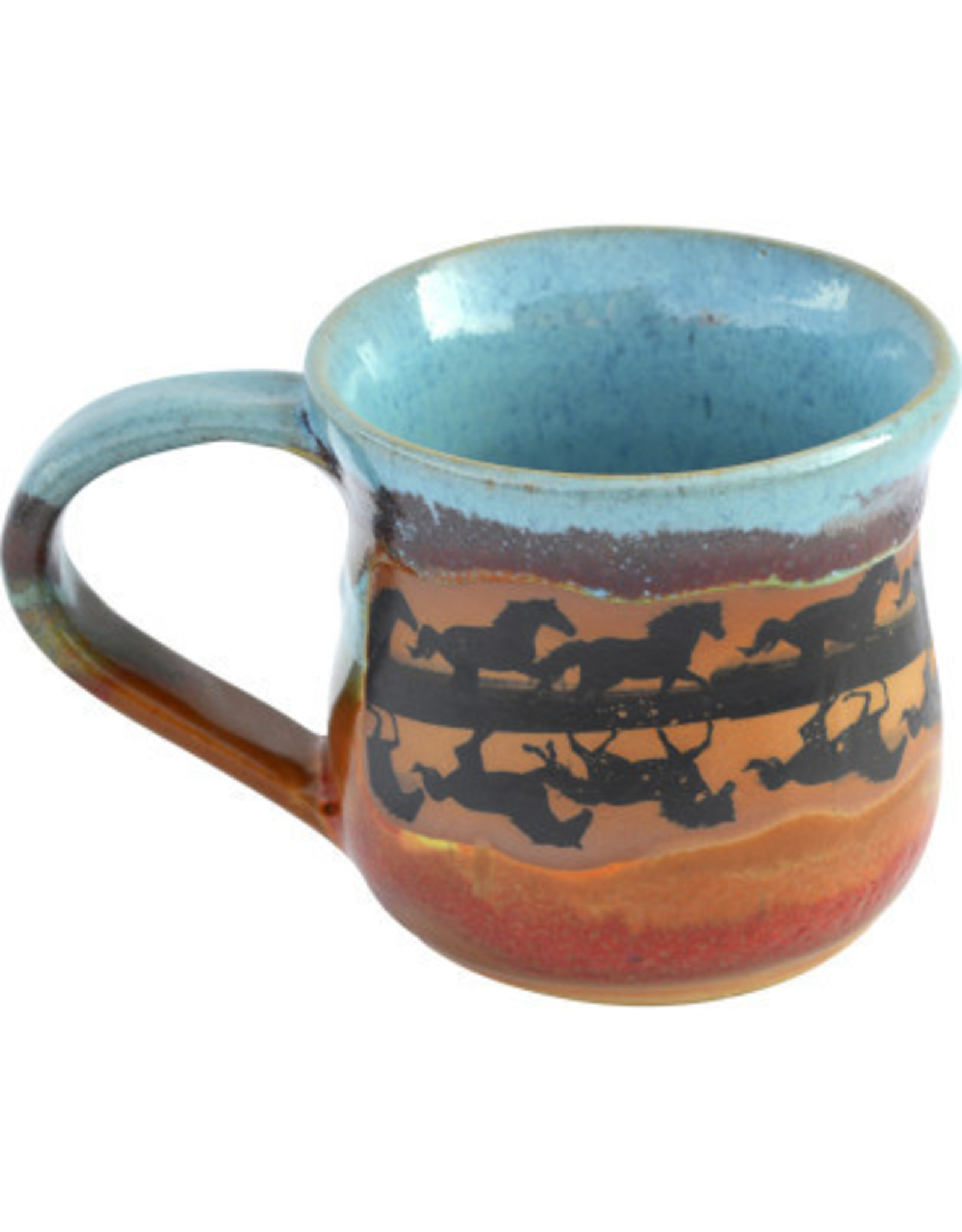 Always Azul HORSE REFLECTIONS MUG (Panoramic Image, Lg, 14oz)