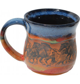 Always Azul WILD HORSES MUG (Panoramic Image, Lg, 14oz)