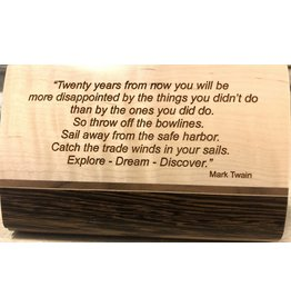 Mikutowski Woodworking TREASURE WOOD BOX (Asst. Stripes, Custom Engraved Sentiment) MIKM