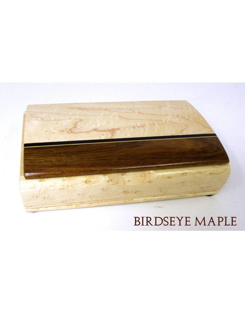 Mikutowski Woodworking TREASURE WOOD BOX (Asst. Stripes, Custom Engraved Sentiment)