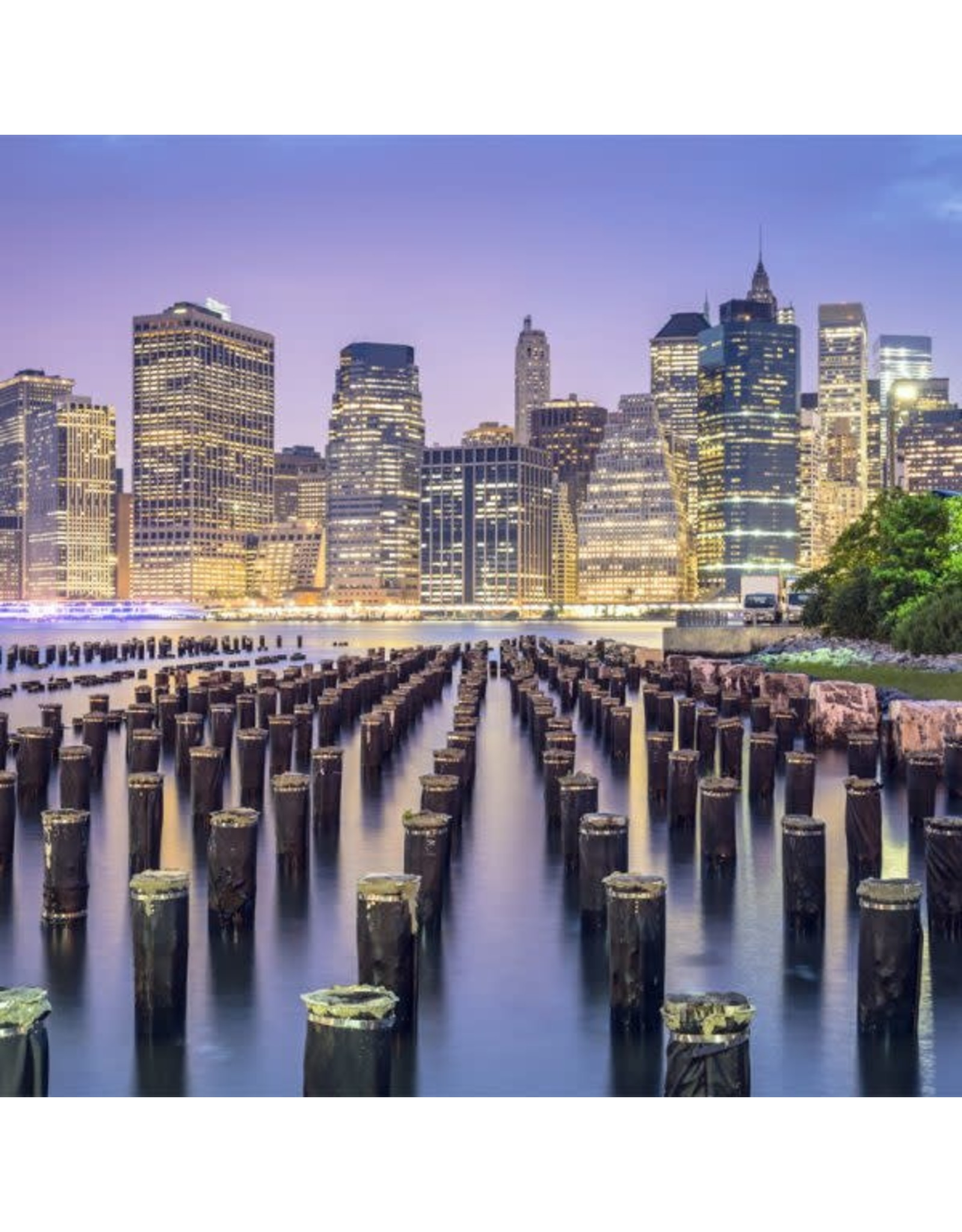 Zen Art & Design NYC Skyline (Teaser, 48 Pieces, ZEN Wooden Jigsaw Puzzle)