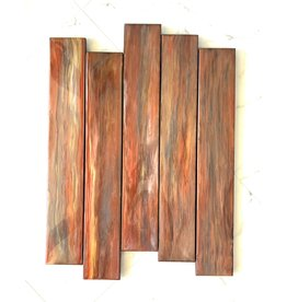 """Sandra Stroot RUSTIC WOOD (Epoxy Resin Pour, 27""""H x 20""""W)"""