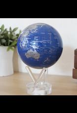 "Mova Globes BLUE & SILVER (MOVA Globe 4.5"" w/Acrylic Base)"
