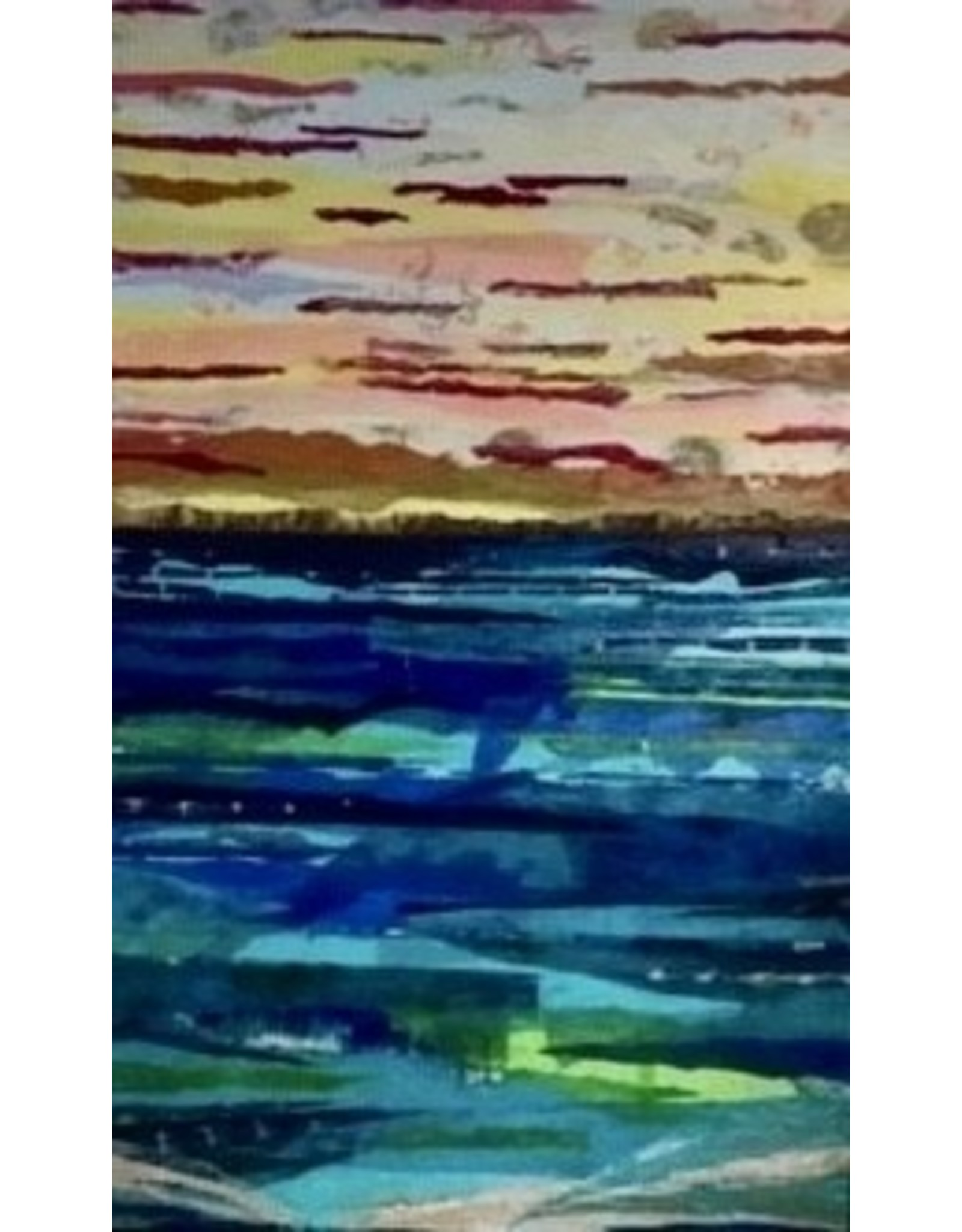 "Pam Maschal SEASCAPE II (Mixed Media, 30x48"" PAMM)"
